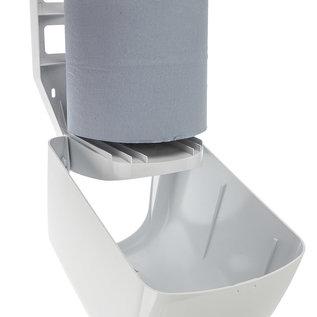 PlastiQline 2020 Papierrolhouder kunststof wit geschikt voor midi papierrollen
