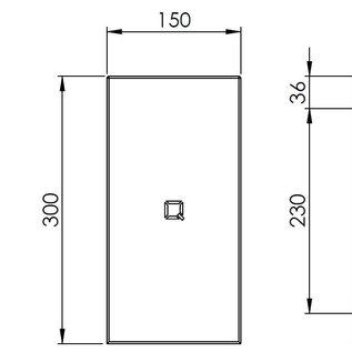 Qbic-line Papierrolhouder RVS vierkant geschikt voor mini papierrol