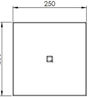 Qbic-line Papierrolhouder RVS vierkant tafelmodel midi rollen