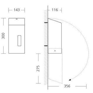 Ophardt Hygiëne Santral Papierrolhouder RVS geschikt voor mini papierrol