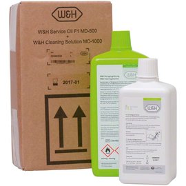 W&H Dental  W&H service oil F1 + cleaning solution MC-1000