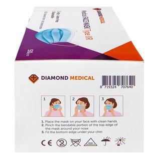 Diamond Medical  Medische Mondkapjes type IIR 2.000 STUKS + GRATIS 24 x Desinfectie gel medisch 100ml