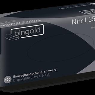 Bingold Nitril handschoenen zwart 100 STUKS