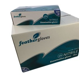 Feather Disposables Nitril handschoen extra strong (blauw - 1000st)