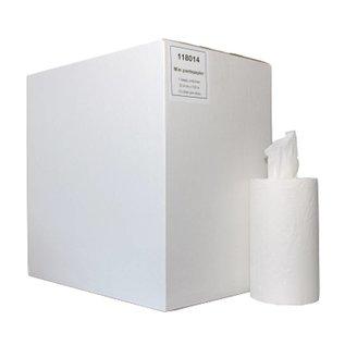 MTS euro Papierrollen eenlaags mini zonder koker (wit - 12 rollen)