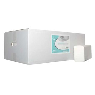 MTS euro Papieren handdoeken multifold cellulose 20,6cm x 32cm (3000st)