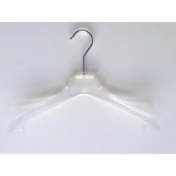 Hanger transp gebogen 44cm 130 stuks