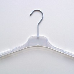Hanger transparant 43cm vlak 350 stuks