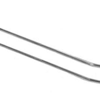 Boardhaak dubbele ZB pen dicht 250 mm lang en  4.8mm dik, breed hart op hart 50mm, 50 stuks. Materiaal verzinkt draad. Prijs per verpakking van 50 stuks.