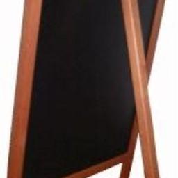 Krijtstoepbord mahonie bxh 55x85cm