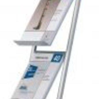 Folderstandaard Flex - 3xA4, hoogte 125cm