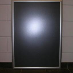 Klik-lijst 33x130 cm ALU-klap 25mm recht