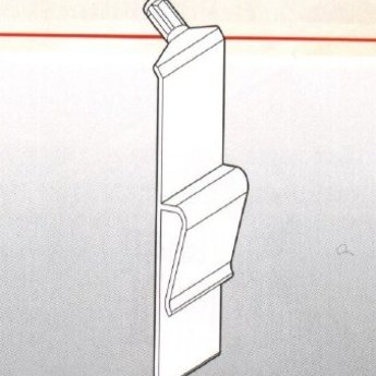 Kistklem transparant, op op doos of dunne kist te klemmen.