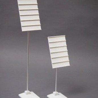 Deco-card-holder 6-vak hoogte 20cm grijs