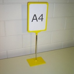 Standaard A3 geel compl. voet kunststof