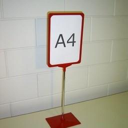 Standaard A3 rood compl. voet kunststof
