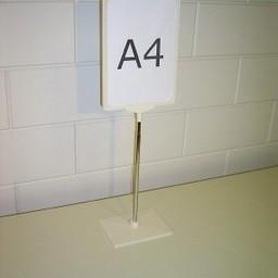 Standaard A4 wit compl. voet kunststof