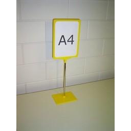 Standaard A4 geel compl. voet kunststof