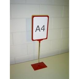 Standaard A4 rood compl. voet kunststof