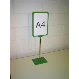 Standaard A4 groen compl. voet kunststof