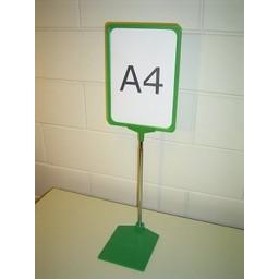 Standaard A3 groen + voet kunstst-zwaar