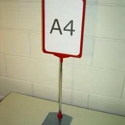 Standaard A3 rood comp voet metaal