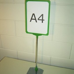 Standaard A3 groen comp voet metaal