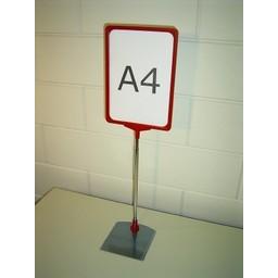 Standaard A4 rood compl. voet metaal