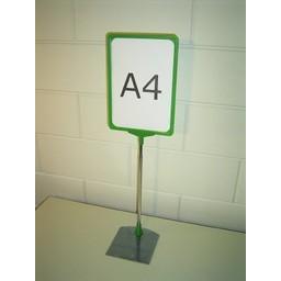 Standaard A4 groen compl. voet metaal