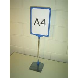 Standaard A4 blauw compl. voet metaal