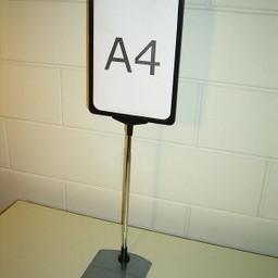 Standaard A4 zwart compl. voet metaal