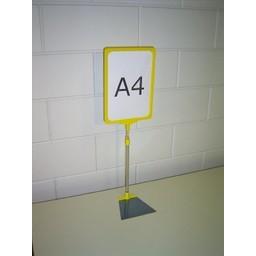 Standaard A4 geel compl voet trapezium