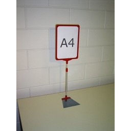 Standaard A4 rood compl voet trapezium