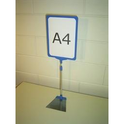 Standaard A4 blauw compl voet trapezium