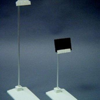 Deco-card-holder hoogte 20 cm grijs