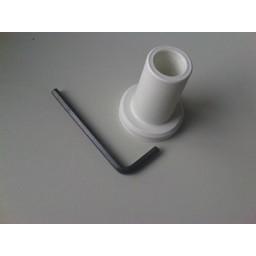 Buishouder kunststof wit, voor buis diam