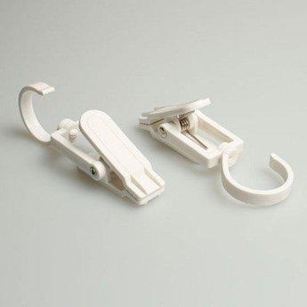 Laarzenklem / Clever-clip maxi wit  afmeting 11 cm     40st