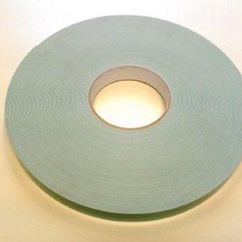 Dubbelzijdig schuim tape voor spiegels breed 19mm x lengte 50m dikte 0.8mm. Kleur wit. (Tweezijdige polyethyleen schuimstof montage tape.)