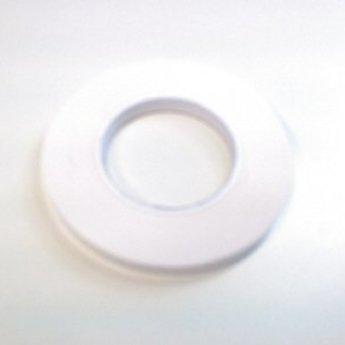 Dubbelzijdige PP postertape polypropyleen 12mm x 50m, kleur wit, geschikt voor het kleven van posters op glas.