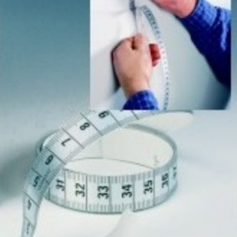 Kleermakerscentimer / lintband zelfklevend, lengte 150 cm.