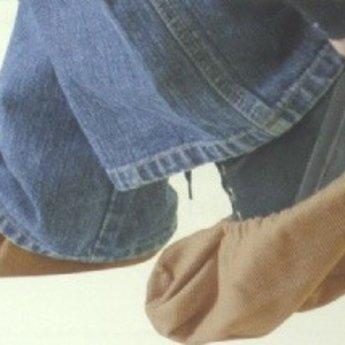 Etalagesloffen - paar - maat L - geschikt voor schoenmaten 43 tot 47. Materiaal Cord-katoen. Kleur licht-beige.