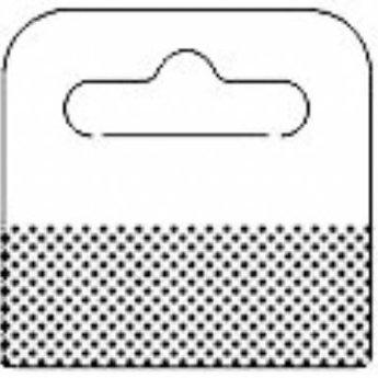 Hang-ups 50x50 mm, met foam tape 50x18mm - met Euroslot voor boardhaken . Verpakt op rollen van  1000 stuks.<br /> <br /> Aantal: 1000<br /> Formaat: 50 x 50 mm<br /> Kleefstrook: Schuim<br /> Lijm formaat: 50 x 18 mm<br /> Materiaal: 380 micron PET