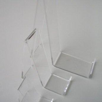 Acryl-standaard voor lederwaren/ mobiele telefoons hoogte 9cm diepte 3cm