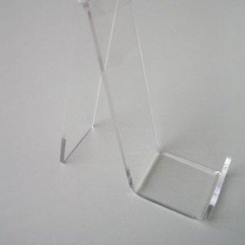 Acryl-standaard voor lederwaren hoogte 18cm diepte 8,5 cm