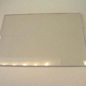 Deur-naamplaathouder voor papierstrook 210x50 mm. Deze afmeting heeft niet de duimgrip zoals op de foto wel aanwezig.