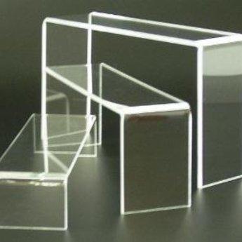 Acryl-bruggetje 20x7cm hoog  50mm, rondom gepolijst.