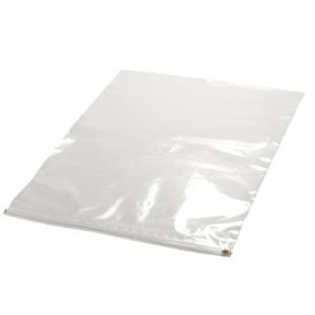 Hoes voor kaartmaat A2  -  420x594 mm met rits, buitenafmeting 485x680 mm, prijs per stuk. Tekeninghoes. Dikte 75 micron.