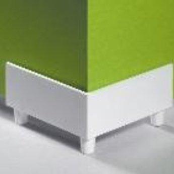 Displayvoet. Hoekstuk voor kartonnen displays. Beschermd tegen vocht en viezigheid. Afmeting 65x45mm. Kleur wit. Prijs per 100 stuks.