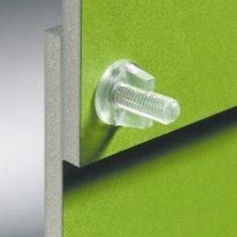 Displayscrew lengte 12mm voor gat 5.5mm, 100 stuks.