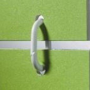 Displayring wit kunststof ovaal 50mm, per 100 stuks.